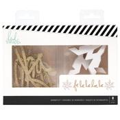 Gold Glitter Falala Banners - City Sidewalks - Heidi Swapp