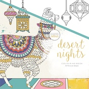 "Desert Nights - KaiserColour Perfect Bound Coloring Book 9.75""X9.75"""