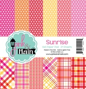"""Sunrise, 6 Designs/4 Each - Pink & Main Double-Sided Paper Pad 6""""X6"""" 24/Pkg"""