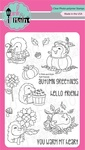 """Fall Friends - Pink & Main Clear Stamps 4""""X6"""""""