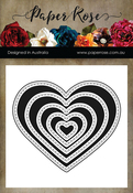 Nesting Stitched Hearts - Paper Rose Dies