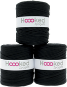 Classic Black - Pure Black Shades - Hoooked Zpagetti Yarn