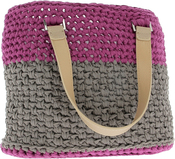 Crazy Plum  - Hoooked Valencia Bag Kit W/Ribbon XL Yarn