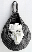 Dark Gray/Anthracite - Hoooked Storage Bag Yarn Kit W/Zpagetti Yarn