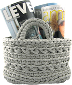 Medium Gray - Hoooked Revisto Basket Kit W/Zpagetti Yarn
