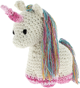 Off White - Hoooked Unicorn Nora Yarn Kit W/Eco Brabante Yarn