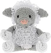 White & Gray - Hoooked Lamb Lewy Yarn Kit W/Eco Brabante Yarn