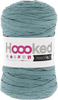 Emerald Splash - Hoooked Ribbon XL Yarn Hoooked-RibbonXL Yarn. Which of us doesn't love the thrill of a quick knit? RibbonXL is the lightweight chunky recycled yarn that adds a touch of style to all your fashion garments, accessories, and home decor! The glorious colors of the rainbow await your needles. Perfect for kitchen and home decor items. RibbonXL is an itch-free fabric yarn, it is slightly elastic and it knits very easy. Content: 100% recycled fibers (80% recycled cotton, 20% other). Putup: 8oz (250gr), 131yd (120m). Suggested knitting needle sizes US11 to US17. Suggested crochet hook sizes L to P. Care: Machine wash cold. Comes in a variety of colors. Each sold separately. Imported.