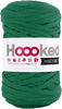 Lush Green - Hoooked Ribbon XL Yarn Hoooked-RibbonXL Yarn. Which of us doesn't love the thrill of a quick knit? RibbonXL is the lightweight chunky recycled yarn that adds a touch of style to all your fashion garments, accessories, and home decor! The glorious colors of the rainbow await your needles. Perfect for kitchen and home decor items. RibbonXL is an itch-free fabric yarn, it is slightly elastic and it knits very easy. Content: 100% recycled fibers (80% recycled cotton, 20% other). Putup: 8oz (250gr), 131yd (120m). Suggested knitting needle sizes US11 to US17. Suggested crochet hook sizes L to P. Care: Machine wash cold. Comes in a variety of colors. Each sold separately. Imported.