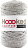 Silver Gray - Hoooked Ribbon XL Yarn Hoooked-RibbonXL Yarn. Which of us doesn't love the thrill of a quick knit? RibbonXL is the lightweight chunky recycled yarn that adds a touch of style to all your fashion garments, accessories, and home decor! The glorious colors of the rainbow await your needles. Perfect for kitchen and home decor items. RibbonXL is an itch-free fabric yarn, it is slightly elastic and it knits very easy. Content: 100% recycled fibers (80% recycled cotton, 20% other). Putup: 8oz (250gr), 131yd (120m). Suggested knitting needle sizes US11 to US17. Suggested crochet hook sizes L to P. Care: Machine wash cold. Comes in a variety of colors. Each sold separately. Imported.