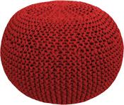 Burgundy Passion - Hoooked Knit & Crochet Pouf Kit W/Zpagetti Yarn