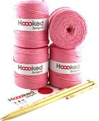 Cherry Blossom - Hoooked Knit & Crochet Pouf Kit W/Zpagetti Yarn