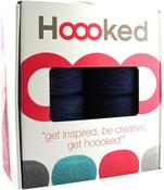 Sailor Blue - Hoooked Knit & Crochet Pouf Kit W/Zpagetti Yarn