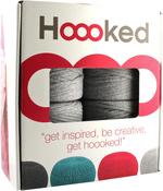 Silver Gray - Hoooked Knit & Crochet Pouf Kit W/Zpagetti Yarn