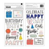 Celebrate Glitter Accent Thickers - Hooray - Crate Paper