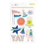 Hooray Glitter & Pom Pom Stickers - Crate Paper