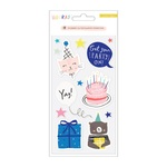 Hooray Embossed Puffy Stickers - Crate Paper