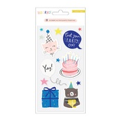 Hooray Embossed Puffy Stickers - Crate Paper - PRE ORDER