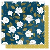 Raleigh Floral Paper - Goldenrod - OneCanoeTwo