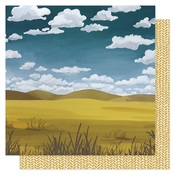 Waves Of Grain Paper - Goldenrod - OneCanoeTwo