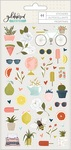 Goldenrod Puffy Stickers - OneCanoeTwo