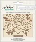 Goldenrod Letterpress Alphabet Stamp - OneCanoeTwo