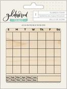 Goldenrod Calendar Block Stamp - OneCanoeTwo