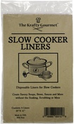 "Clear 20""X11"" - The Krafty Gourmet Slow Cooker Savers Plastic Liners 6/Pkg"