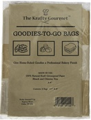 """6.5""""X8"""" - The Krafty Gourmet Natural Goodies-To-Give Bags 4/Pkg"""
