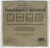 "White 9"" - The Krafty Gourmet Parchment Rounds 24/Pkg"