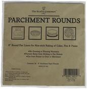 "White 8"" - The Krafty Gourmet Parchment Rounds 24/Pkg"