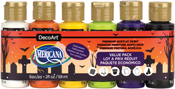Halloween - Americana Acrylics Value Pack 6/Pkg