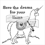 "Drama Llama - Crafter's Workshop Template 12""X12"""