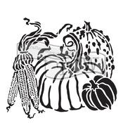 "Harvest Pumpkins - Crafter's Workshop Template 12""X12"""