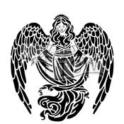 "Prayful Angel - Crafter's Workshop Template 12""X12"""