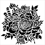 "Rose Bouquet - Crafter's Workshop Template 12""X12"""