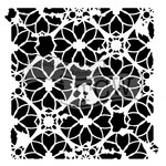 "Distressed Lace - Crafter's Workshop Template 6""X6"""