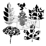 "Leaf Collection - Crafter's Workshop Template 6""X6"""