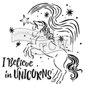 "Believe In Unicorns - Crafter's Workshop Template 6""X6"""