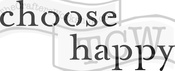 "Choose Happy - Crafter's Workshop Rustic Sign Template 16.5""X6"""