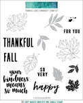 "Thankful Leaves Turnabout - Concord & 9th Clear Stamps 6""X6"""