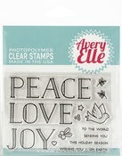 "Sending Peace - Avery Elle Clear Stamp Set 4""X3"""
