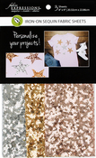 "1 Each Of 3 Colors - Fabric Expressions Fusible Sequin Sheets 8""X9"" 3/Pkg"