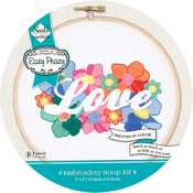 Love Stamped On Canvas - Needle Creations Easy Peasy Reverse Embroidery Kit 6""