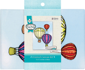 "Balloons Stamped On Canvas - Needle Creations Easy Peasy Embroidery Kit 5""X7"""