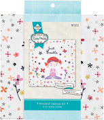 "Just Breathe Stamped On Canvas - Needle Creations Easy Peasy Embroidery Kit 8""X8"""