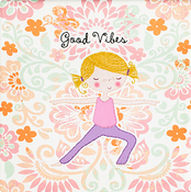 "Good Vibes Stamped On Canvas - Needle Creations Easy Peasy Embroidery Kit 8""X8"""