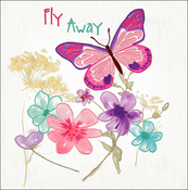 "Butterflies Stamped On Canvas - Needle Creations Easy Peasy Embroidery Kit 8""X8"""