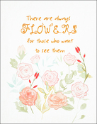 "Flowers Stamped On Canvas - Needle Creations Easy Peasy Embroidery Kit 8""X10"""