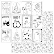 Black & White Color Me Cards - Frosty Friends - Photoplay